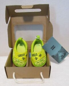 NIB Toms Pinto Infant Boys Crib Shoes Infant 3 Yellow Cream Squeeze MSRP$28