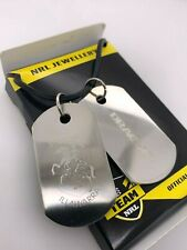 NRL St George Dragons Double Gents Dog Tag Stainless Steel Necklace RRP $49.95