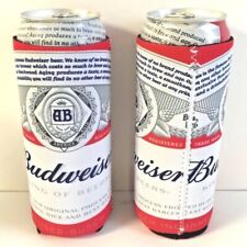 Budweiser Beer 24 / 25 oz Koozie - Set of 2 - Fits Extra Ounce Cans New & F/S