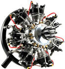 UMS 7-160cc Gas - 7 Cylinder Radial 4 Stroke Engine