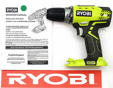 "RYOBI 18 V 18 VOLT 1/2"" INCH LITHIUM NICAD CORDLESS DRILL WITH LED LIGHT P208B"