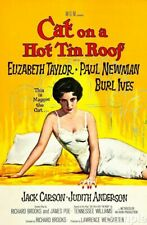 Elizabeth Taylor Cat On A Hot Tin Roof Film Cinema Movie Poster Print Picture A4