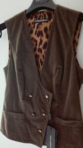 Dolce Gabbana D&G Ladies Velvet Jacket Leopard Lining Brand New Unused on Hanger