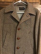 Vintage Pendleton Tweed Overcoat - Size 40 - Silver Lining