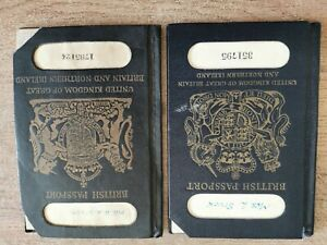 2 x Vintage British Passports issued 1951 & 1962