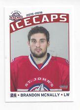 2015-16 St. John's IceCaps (AHL) Brandon McNally (Sterzing/Vipiteno)