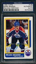 1986/87 Topps #186 Mark Messier PSA/DNA Certified Authentic Auto Signed *2308