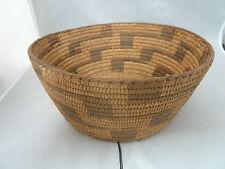 "Native American Pima Basket Bowl Very Nice Design. Approx 4"" T x 9"" W"