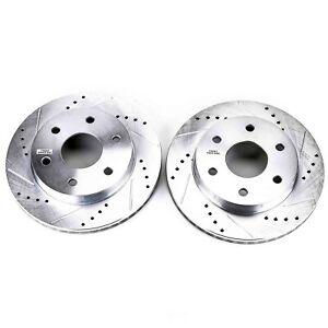 Disc Brake Rotor Set-Front Drilled