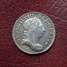George III 1762 silver maundy threepence