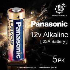 Genuine 5 x Panasonic A23 Alkaline Remote Batteries 12V LRV08 MN21 23A battery