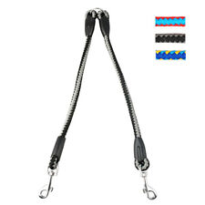 2 Way Double Dog Leash Braided Nylon Rope for Two Dogs Pet Puppy Walking 3 Color