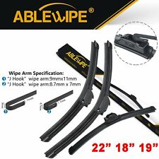 "ABLEWIPE Fit For ACURA Integra 2001-1994 Beam Windshield Wiper Blades 22""18""19"""