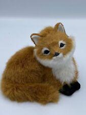 Furry Red Fox Animal Figure