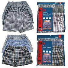 Mens NBS Boxer Trunk Shorts Plaid Checkered 3,6,12 Pack Underwear Briefs