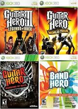 NEW Xbox 360 Guitar Hero III Legends of Rock World Tour Warriors Rock Band Hero