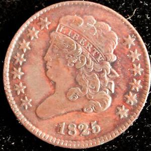 Half cent/penny 1825  Extra Fine/ AU choice