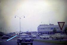 1963 35mm slide HEMA STORE-CARS-CITROËN AMI 6 - TAXI-3 WHEELER-NR MAASTRICHT