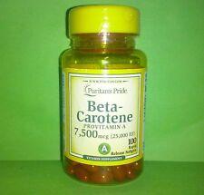 Betacaroteno beta caroteno beta-caroteno 25000 IU 100 perlas PURITAN´S PRIDE