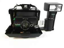 Vintage Polaroid ProPack Camera with ProFlash + Manual & New Batteries
