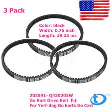 3 Pack 203591- Q430203W Go Kart Drive Belt Fit for Yerf-dog Go karts Go Cart Usa