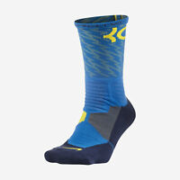 NIKE HYPER ELITE KD Kevin Durant Basketball Crew Socks SX4972-406 L 8-12 Blue
