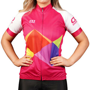 Didoo Ladies Cycling Jersey Short Sleeve Womens Summer Breathable Full Zip Tops