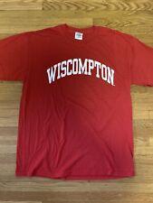 Wisconsin Badgers Wiscompton T Shirt Medium Big Ten Football basketball