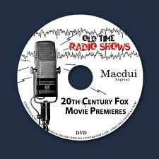 20th Century Fox Movie Premieres Old Time Radio OTR 10 MP3 Files 1 Data DVD