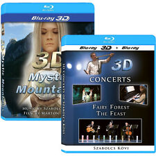 2 3D Blu-ray Movies! Fairy Forest/ The Feast 3D Concerts & Mystic Mountains NICE