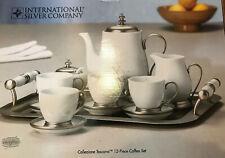 INTERNATIONAL SILVER COMPANY Collezione Toscana 12 Piece Coffee Set NIB