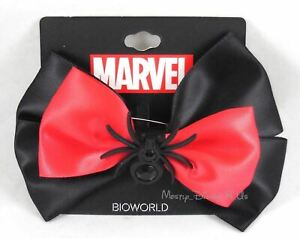 Marvel S.H.I.E.L.D Black Widow Spider Cosplay Hair Bow Pin Clip Costume Dress-Up