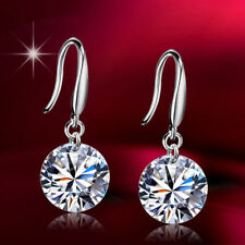 925 Sterling Silver Temperament Ear Hook Tiny Zircon Crystal Drop Earrings