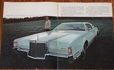 1972 Lincoln Continental Mark IV Prospekt brochure n Town Car Ford Thunderbird