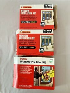 LOT OF 3 BOXES VARIOUS SIZE WINDOW INSULATION KITS 2 FROST KING & 1 SCOTCH ~ C43