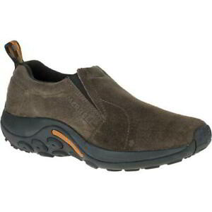 Merrell Jungle Moc Mens Grey Leather Slip On Walking Trainers Shoes Size 7-14