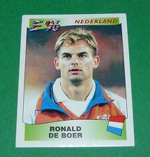 N°85 RONALD DE BOER NEDERLAND PANINI FOOTBALL UEFA EURO 96 EUROPE EUROPA 1996