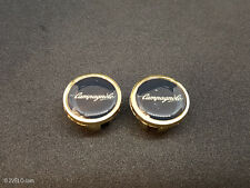 Vintage style Campagnolo script gold Handlebar End Plugs