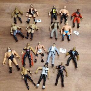 Vintage Jakks Pacific WWF WWE Action Figures late 1996,1998,1999 lot of 17