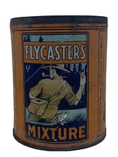 Antique Very Rare 1930s Flymasters Mixture Tobacco Tin Fishing No Lid :(