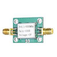 0.1-4000MHz 20DB Wideband Amplifier Broadband Microwave RF AMP Module LNA S2O3
