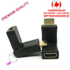 180 degree Rotating HDMI Female to Male Swivel Right Angled Connector Adapter