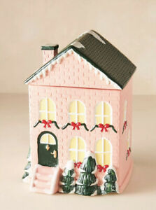 NEW Anthropologie Pink Townhouse Four-Wick Ceramic Candle Wassail & Spice Cedar