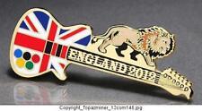 OLYMPIC PINS BADGE 2012 LONDON ENGLAND UK UNION JACK FLAG GUITAR & LION (GOLD)