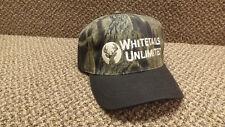 Vtg Whitetails Unlimited  Snapback Camouflage  Hat/Cap NWOT Embroidered Logo
