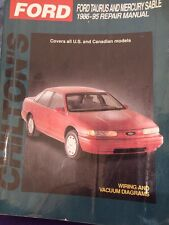 Chiltons Repair Manual Ford Taurus And Mercury Sable 86 To 95