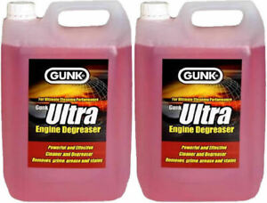 2 X 5L GUNK ULTRA ENGINE DEGREASER BRUSH ON ENGINES MACHINES AUTOMOTIVE CLEANER