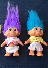 2 Vintage Tnt Troll Doll 1991