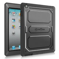For iPad 4, iPad 3 & iPad 2 Case Shockproof Cover Built-in Screen Protector