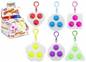 Push Pop Keyring Simple Dimple Mini Fidget Sensory Stress Relief Assorted Design